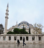 Istanbul, Turkey - November 23, 2014: The Suleymaniye Mosque is an Ottoman imperial mosque located on the Third Hill of Istanbul. The largest mosque in the city Stock Image