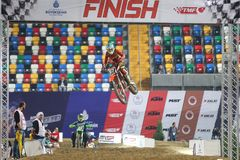 Istanbul Supercross championship royalty free stock photos