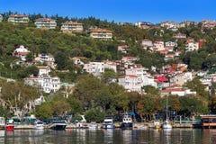 Istanbul, Turkey - OCT 23, 2017: Bosphorus Strait, Istanbul, Turkey. royalty free stock image