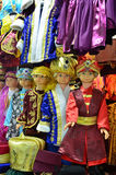 Istanbul, Turkey, October, 22, 2013. Children mannequins in Turkish national clothes at the Egyptian Bazaar in Istanbul Stock Photos