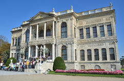 Istanbul, Turkey, October, 19, 2013. Dolmabahce Palace in Istanbul Royalty Free Stock Photography