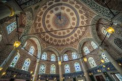 Interior of the Tomb of Sultan Mehmed III Royalty Free Stock Photography