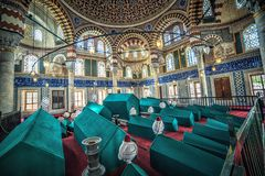 Interior of the Tomb of Sultan Selim II Royalty Free Stock Photo