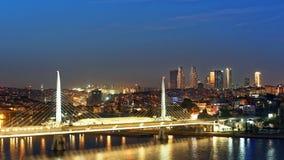 Night view to Istanbul,Turkey Stock Photo