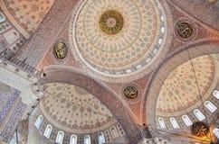 Istanbul, Turkey, October, 19, 2013. Suleymaniye mosque Royalty Free Stock Photography
