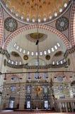 Istanbul, Turkey, October, 19, 2013. Suleymaniye mosque inside Stock Photo