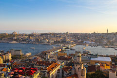 Istanbul, Turkey. Old city of Istanbul in Turkey during sunset Royalty Free Stock Photography