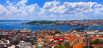 Istanbul Turkey panorama Royalty Free Stock Images