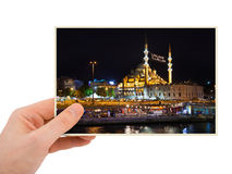 Istanbul Turkey photography in hand Royalty Free Stock Photography