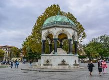 German Fountain in Istanbul, Turkey stock photo