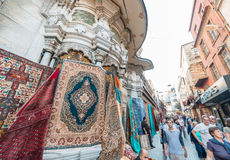 ISTANBUL, TURKEY - SEP 15: Grand Bazaar on September 15, 2014 in Royalty Free Stock Image