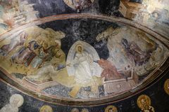 Church of the Holy Saviour in Chora Istanbul stock photo