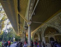 Interior of Topkapi Palace in Istanbul, Turkey stock images