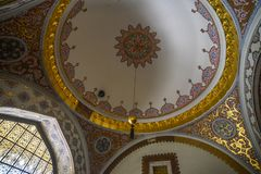 Interior of Topkapi Palace in Istanbul, Turkey royalty free stock images