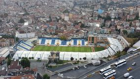 Aereal view of Recep Tayyip Erdogan Stadium in Kasimpasa, istanbul, Turkey stock images