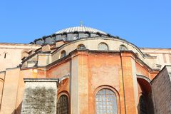 Domes of the Hagia Sophia, Istanbul stock image
