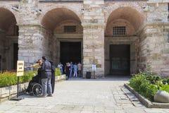 Entrance to the Hagia Sophia, Istanbul royalty free stock image