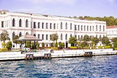 Istanbul / Turkey - September 22, 2014: Four Seasons Hotel Istanbul at the Bosphorus. Converted 19th-century Ottoman Palace situat. Ed in historic Istanbul`s royalty free stock photography