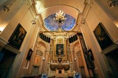 Istanbul, Turkey - September 07, 2014: Interior of Surp Takavor Armanian Orthodox church in Kadikoy, Istanbul built 1814.  stock images