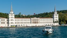 Kuleli Askeri Lisesi or Military High school in Cengelkoy district Istanbul, Turkey royalty free stock photography
