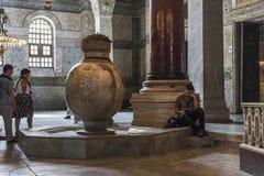 Interior of Hagia Sophia, Istanbul royalty free stock photo