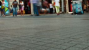 Istanbul, Turkey - September 20, 2015: people walk on Istiklal. Street stock video footage