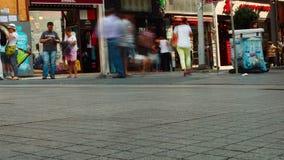 Istanbul, Turkey - September 20, 2015: people walk. On Istiklal Street stock footage