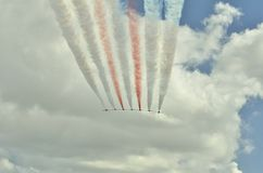Aeronautic festival istanbul XXII stock image