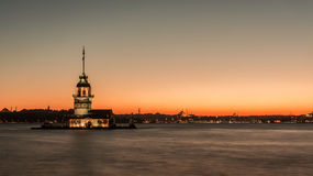 Istanbul, Turkey, September 23, 2012: View of the Maiden's Tower stock photo