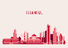 Istanbul Turkey Skyline Flat design Trendy Vector Stock Photo