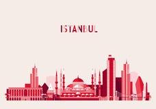 Istanbul Turkey Skyline Flat design Trendy Vector Stock Photo