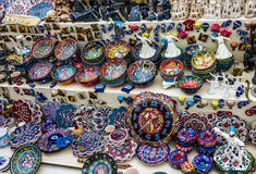 ISTANBUL, TURKEY: Souvenir homemade wares for tourists Stock Photos