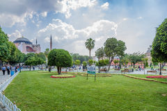 Istanbul, Turkey. Sultanahmet Square and Saint Sophia Cathedral, 537 Stock Photo