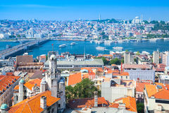 Istanbul, Turkey. Summer cityscape with bridge Royalty Free Stock Images