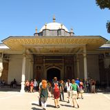 Istanbul, Turkey Topkapi Palace Gate of Felicity Stock Photography