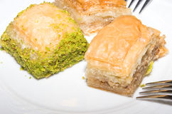 Istanbul, Turkey, traditional dessert baklava Royalty Free Stock Photo