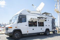 ISTANBUL, TURKEY - TRT WORLD News Truck - Television Network - Broadcast News Van - 08 August 2018 stock images