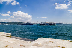 Istanbul, Turkey. View the Bosphorus from the Dolmabahce Palace royalty free stock photo