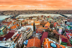Istanbul, Turkey. Istanbul view from Galata tower, Istanbul, Turkey royalty free stock photography
