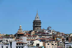 Istanbul Turkey view, Galata Tower, Istanbul, Turkey Royalty Free Stock Photos