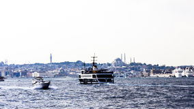 Istanbul, Turkey, View on Golden Horn bay from Galata Tower Stock Photos