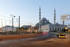 ISTANBUL TURKIET - AUGUSTI 24,2015: Yeni Cami (ny moské) i th royaltyfri bild