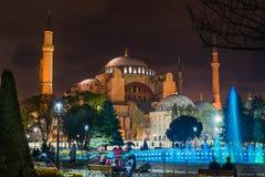 Istanbul Turkiet - 6 28 2018: Hagia Sophia royaltyfri fotografi