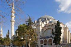 ISTANBUL TURKIET - MARS 27, 2012: Suleiman moské Royaltyfri Fotografi