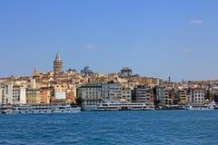 Istanbul Turkiet sikt, Galata torn, Istanbul, Turkiet Arkivbild