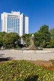 Istanbul Turkiet Springbrunnen i stad parkerar Royaltyfria Foton