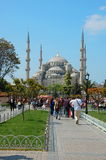 Istanbul Turkiet. Sultan Ahmed Mosque Arkivfoton