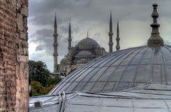 Istanbul turkish street life on a rainy autumn day. In november Stock Photography