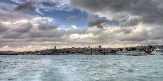 Istanbul turkish street life on a rainy autumn day. In november Stock Image