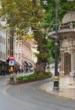 Istanbul, TURQUIE, le 25 septembre 2018 Tour de tramway dans la station de Gulhane image libre de droits